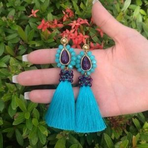 Beautiful and exclusive tassel earrings